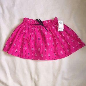 Osh Kosh b'gosh pink print skirt. NWT. 5